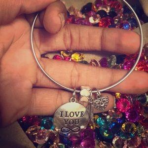 Wire 4 charm bracelet